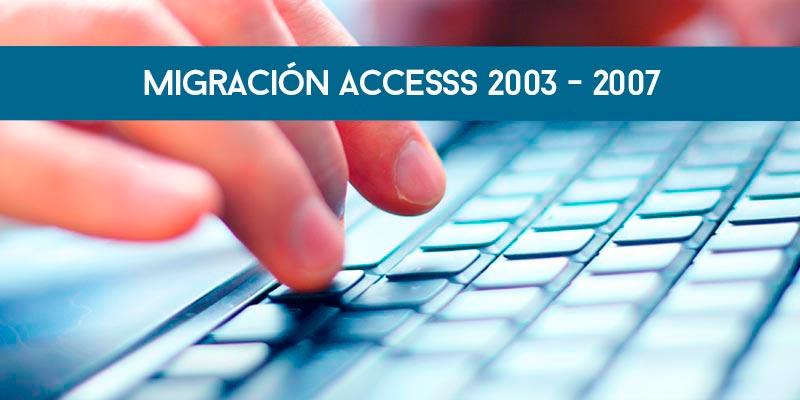 Migración Access 2003-2007
